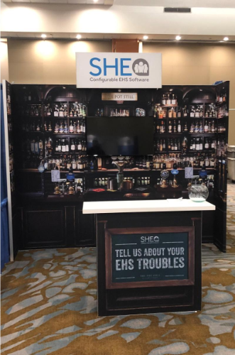 SHE Software Whiskey booth at NSC